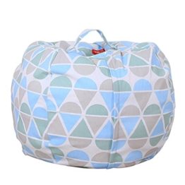 Stofftier Kuscheltiere Aufbewahrung Aufbewahrungstasche Sitzsack Kinder Soft Pouch Stoff Stuhl (One Size, B) - 1