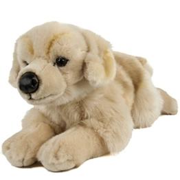 Teddys Rothenburg Kuscheltier Golden Retriever liegend 45 cm blond Hund Plüschtier Stofftier Kinder Baby Spielzeug Plüsch - 1