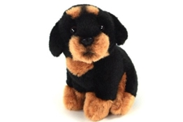 Teddys Rothenburg Kuscheltier Hund Rottweiler sitzend 12 cm schwarz/braun Plüschhund Plüschtier - 1