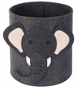 Tier Wäschekorb für Kinder, Baby Spielzeug Aufbewahrungsbox-Elefant - 1