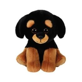 TY 42250 Rottweiller Trevour, Rottweiler Beanie Babies, Plüsch, 15 cm, Schwarz/braun - 1