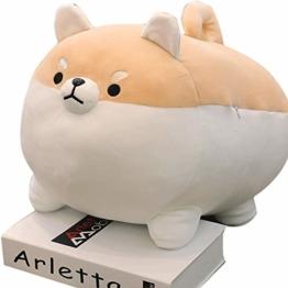 Urhause Plüschtier Hundekissen Plüschtier Simulation Welpen Ornament Tier Plüsch Nettes Fett Shiba Inu Anime Gefülltes Comfort kussen Hundepuppen-Kissen-Kissen braun 40cm - 1