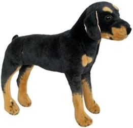 Wagner 1033 - Plüschtier Hund Rottweiler - stehend - 60 cm - 1