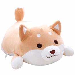 Wollpuppen Tierpuppen Shiba Inu Puppe Theaterpuppe Stofftier handgestricktes Plüschtier, Begleiter für Kinder vor dem Schlafengehen und Stressabbau-Spielzeug für Erwachsene (Gelb) - 1