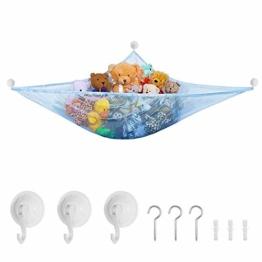 Yuccer Spielzeug Hängematte Aufbewahrung Netz Kinderzimmer Spielzeug Organizer Netz kinder Spielzeug Veranstalter Kleinkinder Toy Hammock Storage Net für Kuscheltiere 1.8m (Blau) - 1