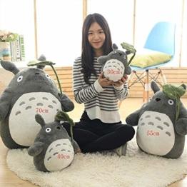 YUEFF Plüsch Figur Totoro Stofftier Cartoon Plüschtier Kuscheltier Für Baby Kinder Mädchen,Weich Plüschtier Anime Kissen, Spielbegleiter Für Kinder,B,30cm - 1