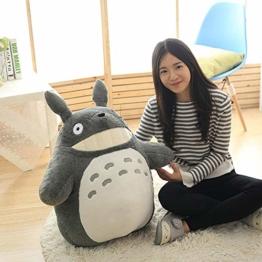 YYY-DOLLS Mein Nachbar Totoro Ghibli Stofftier Plüschtier Kuscheltier Plüsch Figur: Grinsender O Totoro Grau,70CM - 1
