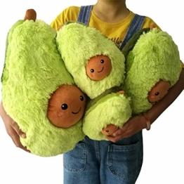 AMhomely® 2019 Weiches PlüschKissen niedlich Avocado Kissen Dekorative Kissen für Kinder Fotografie-Requisiten-Hintergrund, Sofa-Rückenkissen, Rundkissen, Hausdekoration (20cm) - 1