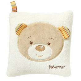 Fehn 160932 Kirschkernkissen Teddy – wohltuendes Wärme- und Kältekissen mit süßer Teddy Applikation für Babys und Kleinkinder ab 0+ Monaten – Maße: 16 x 16 cm - 1