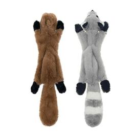JINYJIA Quietschende Spielzeug für Hund, Hundespielzeug ohne Füllung, Hundekuscheltier Plüschspielzeug, Interaktive Spielzeug - Sicher Kauspielzeug für Kleine & Mittel Hunde(2 Stück) - 1