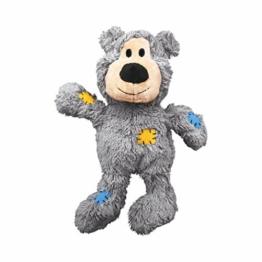 KONG – Wild Knots Bear – Innere Geknotete Seile und Minimale Füllung für Weniger Unordnung (Farbvar.) – Für Kleine/Mittelgroße Hunde - 1