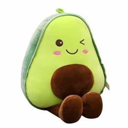Nette Plüsch Avocado Spielzeug, Plüsch Avocado Puppe Cute Obst Gemüse Stofftier Plüschtier Kuscheltier Avocado Plüschtier Weiches PlüschKissen Kuscheltier Plüsch Für Schlafzimmer Wohnzimmer, 30CM - 1