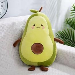 Nicole Knupfer Stofftier Plüschtier Avocado, Kuscheltier Avocado Kissen Geschenk Für Kinder/Erwachsene Kissen Stofftiere (B-45cm) - 1