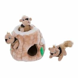 Outward Hound Hide-A-Squirrel Puzzle - Plüsch-Hundespielzeug mit Eichhörnchen, S, braun, 31001 - 1
