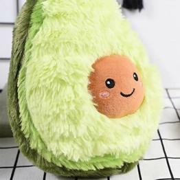 RAINBEAN Nette Avocado Plüsch Mehrere Größen Komfort Lebensmittel Kissen Spielzeug Weiche Frucht Gefüllte Kissen Squeeze Toy Dekoration für Schlafzimmer Wohnzimmer (40CM) - 1