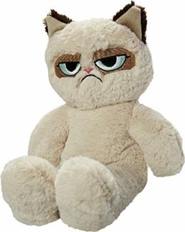 Rosewood 14019.0 Hochwertiges Plüsch-Hundespielzeug von Grumpy Cat, mit eingearbeitetem Squeaker, Höhe: 37cm, beige - 1