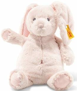 Steiff Soft Cuddly Friends Belly Hase - 28 cm - Kuscheltier für Babys - weich & waschbar - rose (240706) - 1