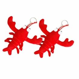 Toyvian 2 Stücke Plüsch Hummer Schlüsselanhänger Plüschtier Anhänger Stofftier Schlüsselbund Kuscheltier Taschenanhänger Kinder Mitgebsel Spielzeug Geburtstag Geschenk - 1